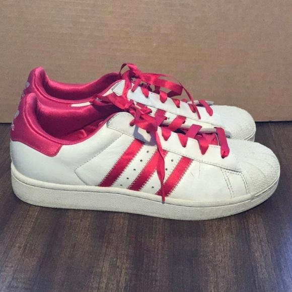 Adidas zapatos  mujer Superstars Rosa Blanco poshmark